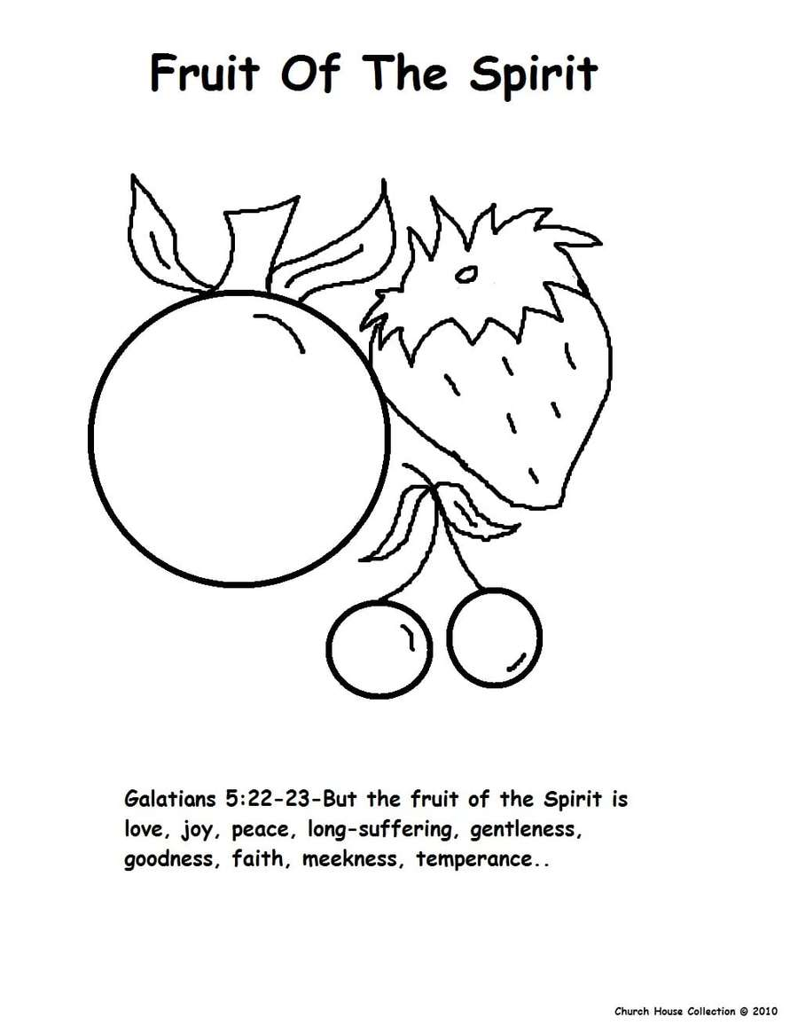 Download fruit of the spirit coloring clipart Fruit of the Holy ...
