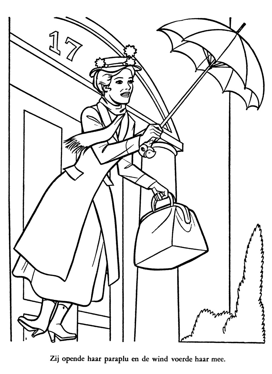 Download mary poppins coloring clipart Coloring book Mary Poppins ...