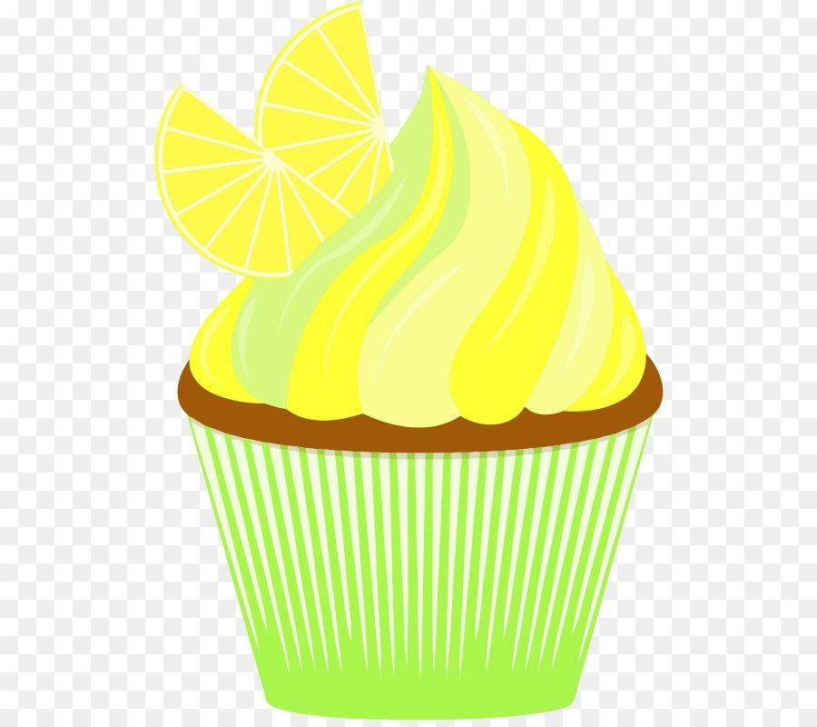 Cupcake yellow PNG Pic.