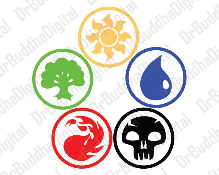 Download Magic The Gathering Mana Symbols Vector Clipart Magic The