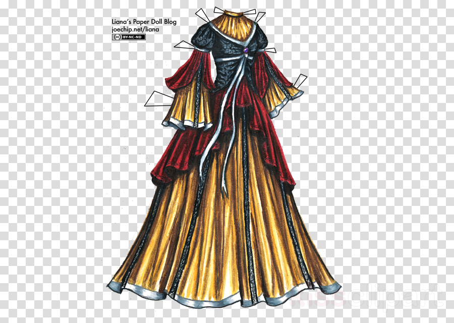 dress clipart Robe Dress Gown