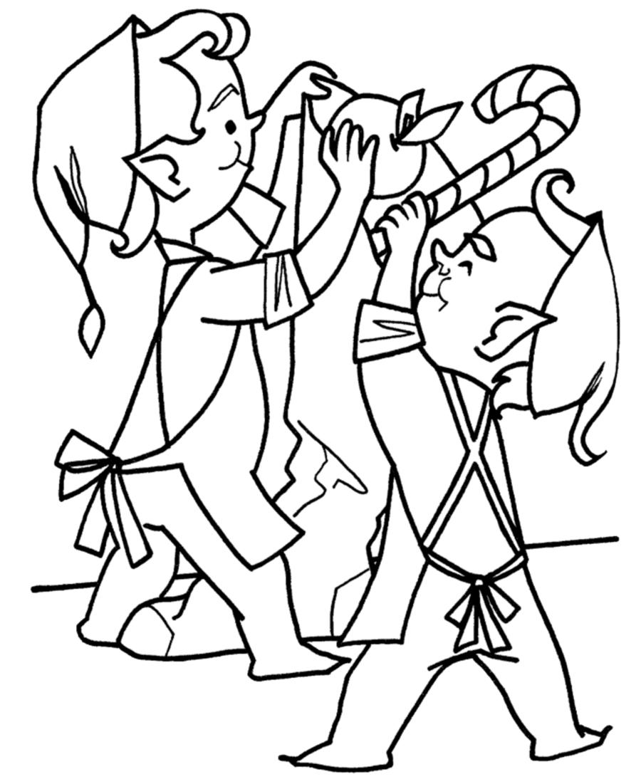 elf clipart santa claus christmas coloring pages elf