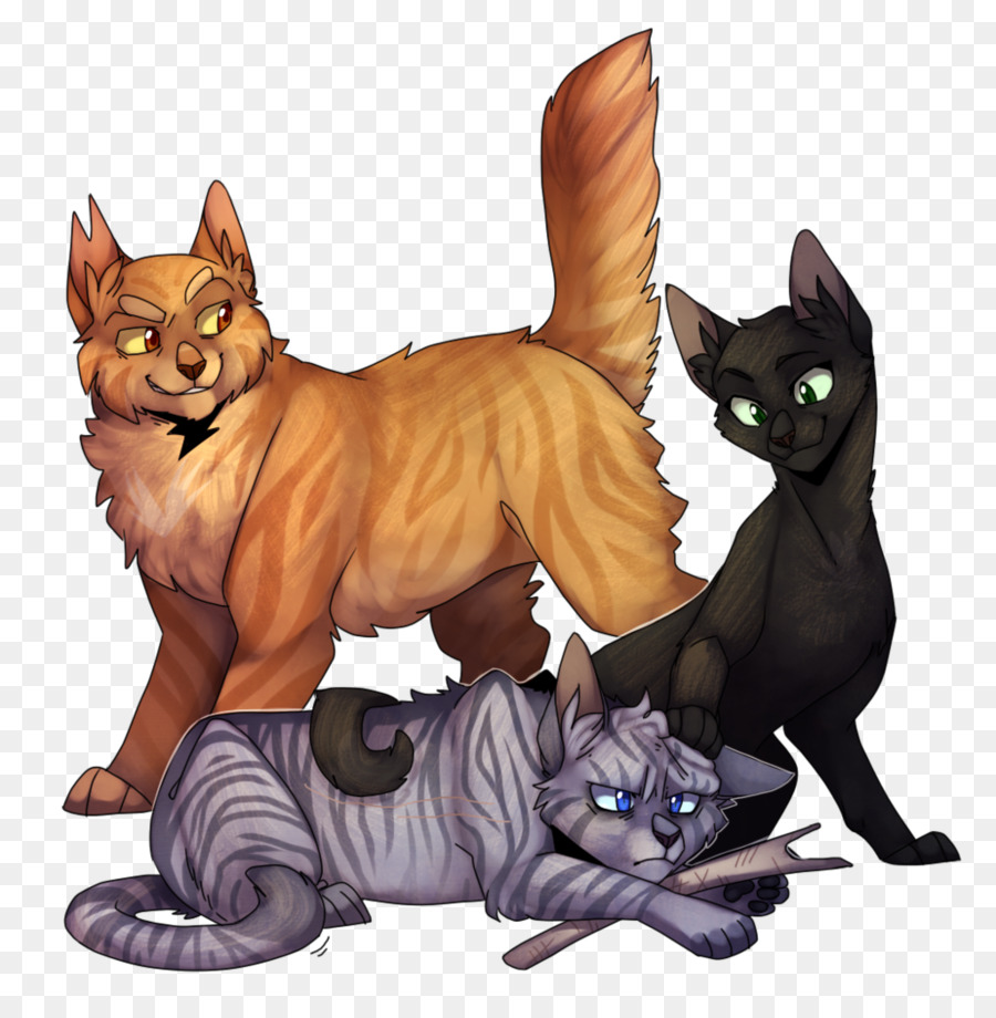 Download Warrior Cats Jayfeather Lionblaze And Hollyleaf Clipart Cat Warriors