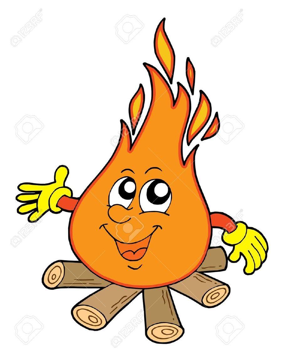 Flame cute. Download fire cartoon clipart