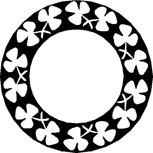 clip art circle of shamrocks clipart Shamrock Clip art