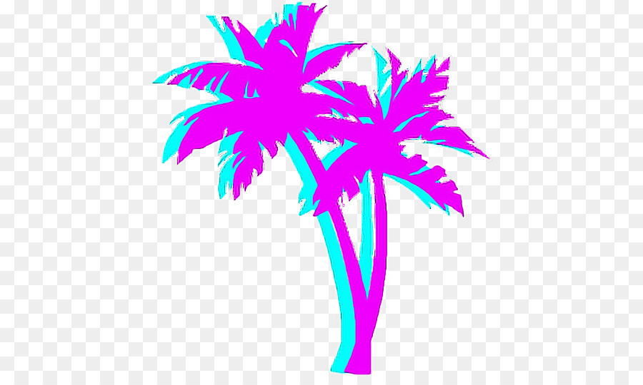 Vaporwave Palm Tree