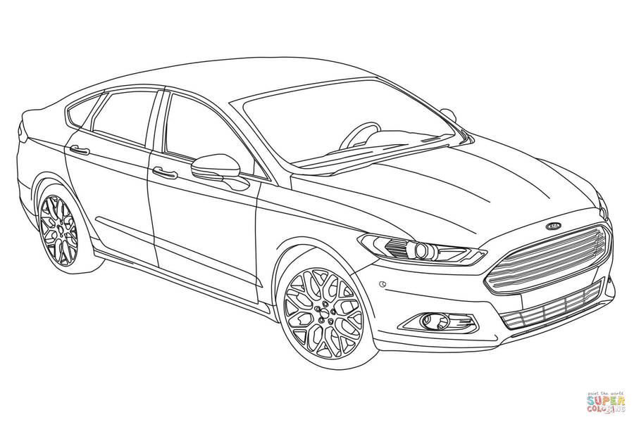 Ford Coloring Pages Clipart Ford Mustang Ford Gt