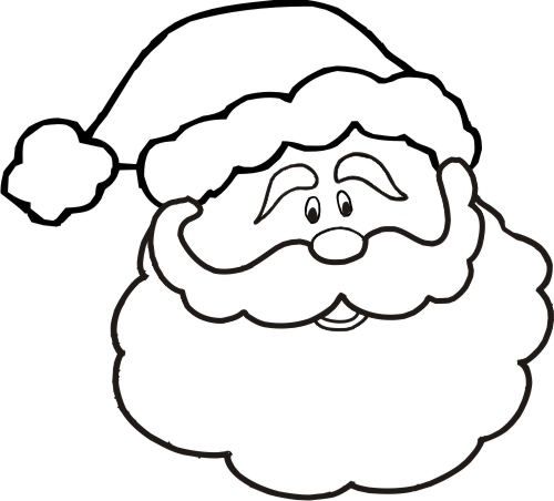 coloring pages santa face clipart santa claus coloring book clip art