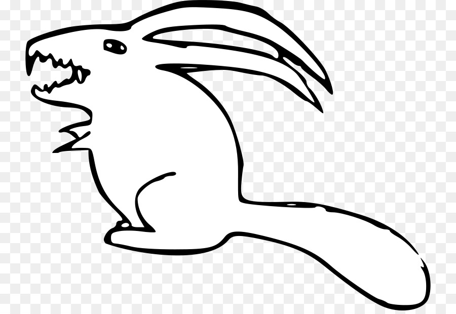 hare clipart black and white