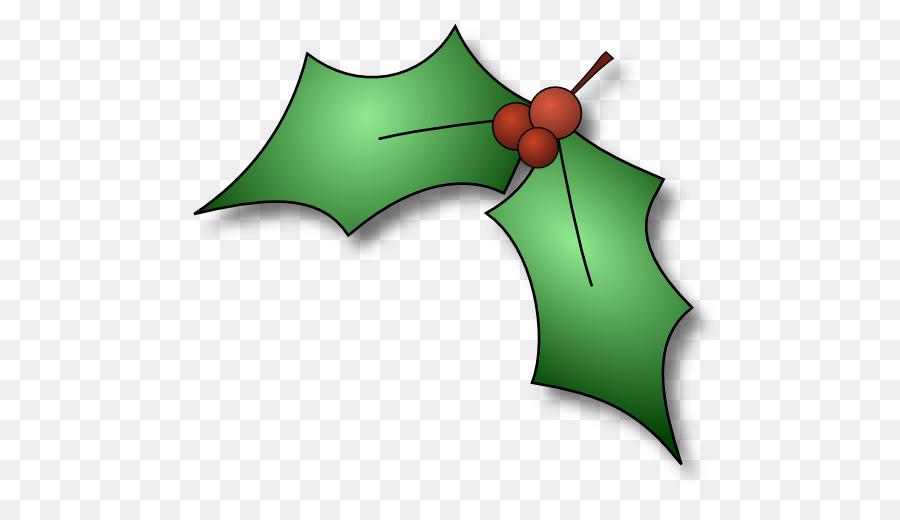Christmas Holly Cartoon.Christmas Decoration Cartoon Clipart Green Leaf Plant