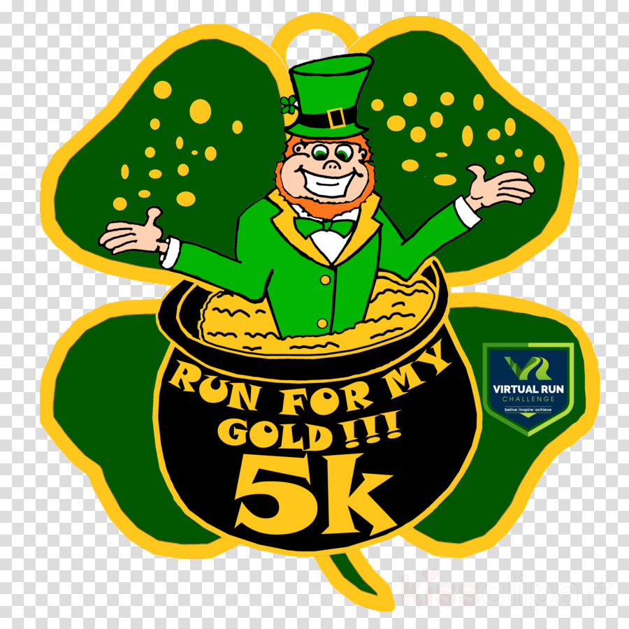 produce clipart Saint Patrick's Day Leprechaun 5K run