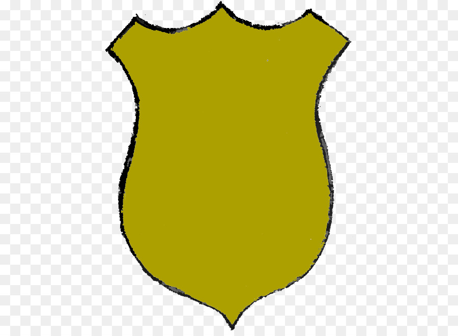 Police badge yellow. Officer cartoon clipart transparent