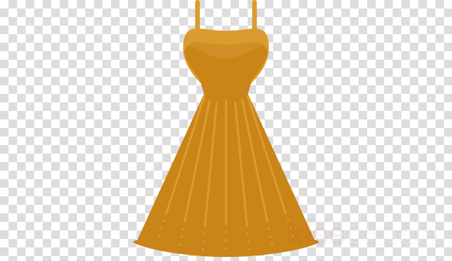 orange clipart Dress Gown