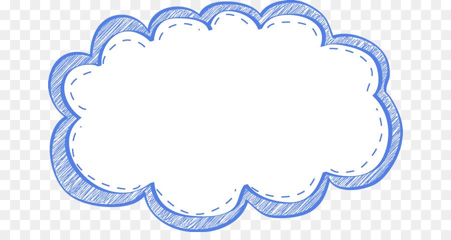 Blue Balloon clipart - Cloud, Illustration, Blue