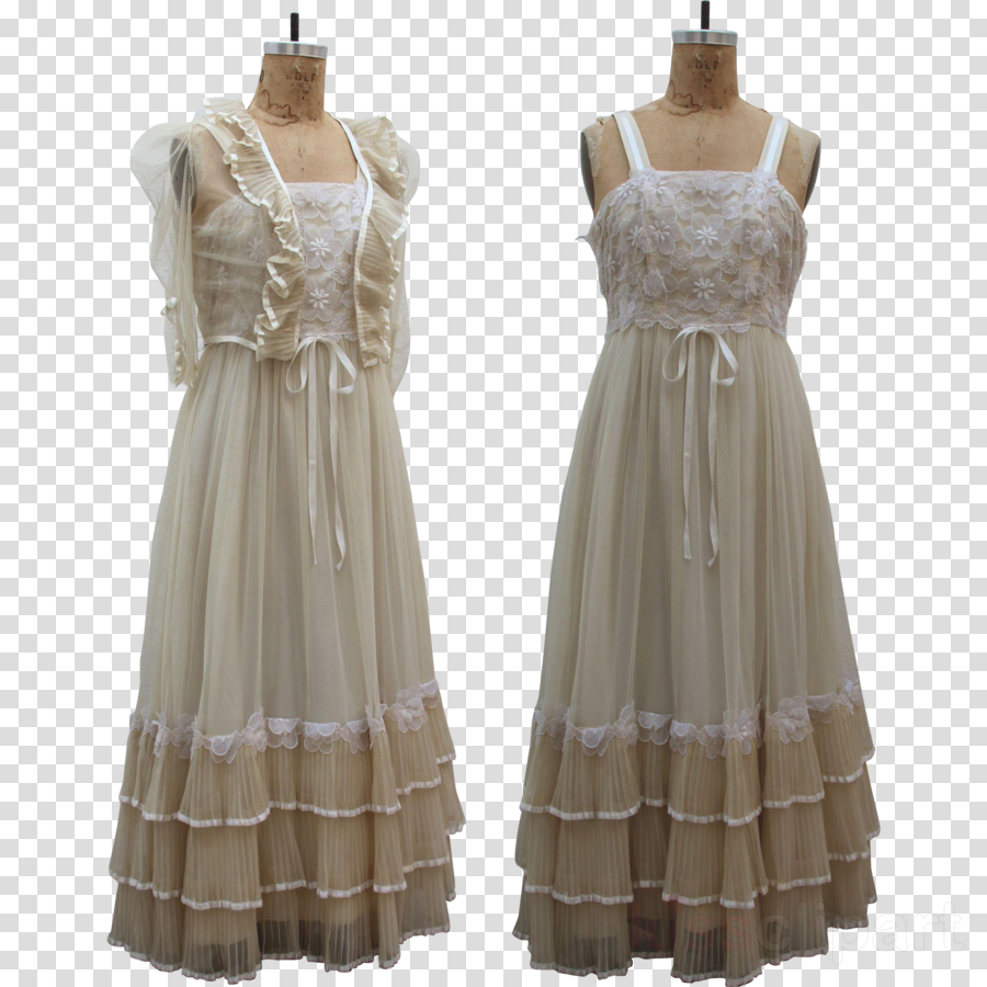 Dress clipart Wedding dress Boho-chic