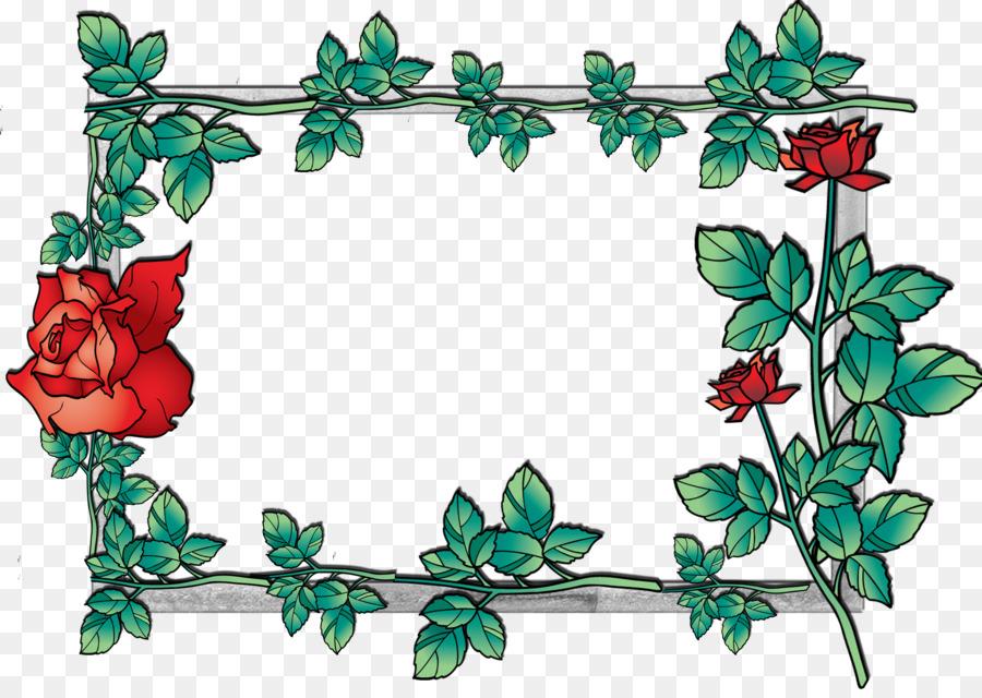 Green Flowers Border Design