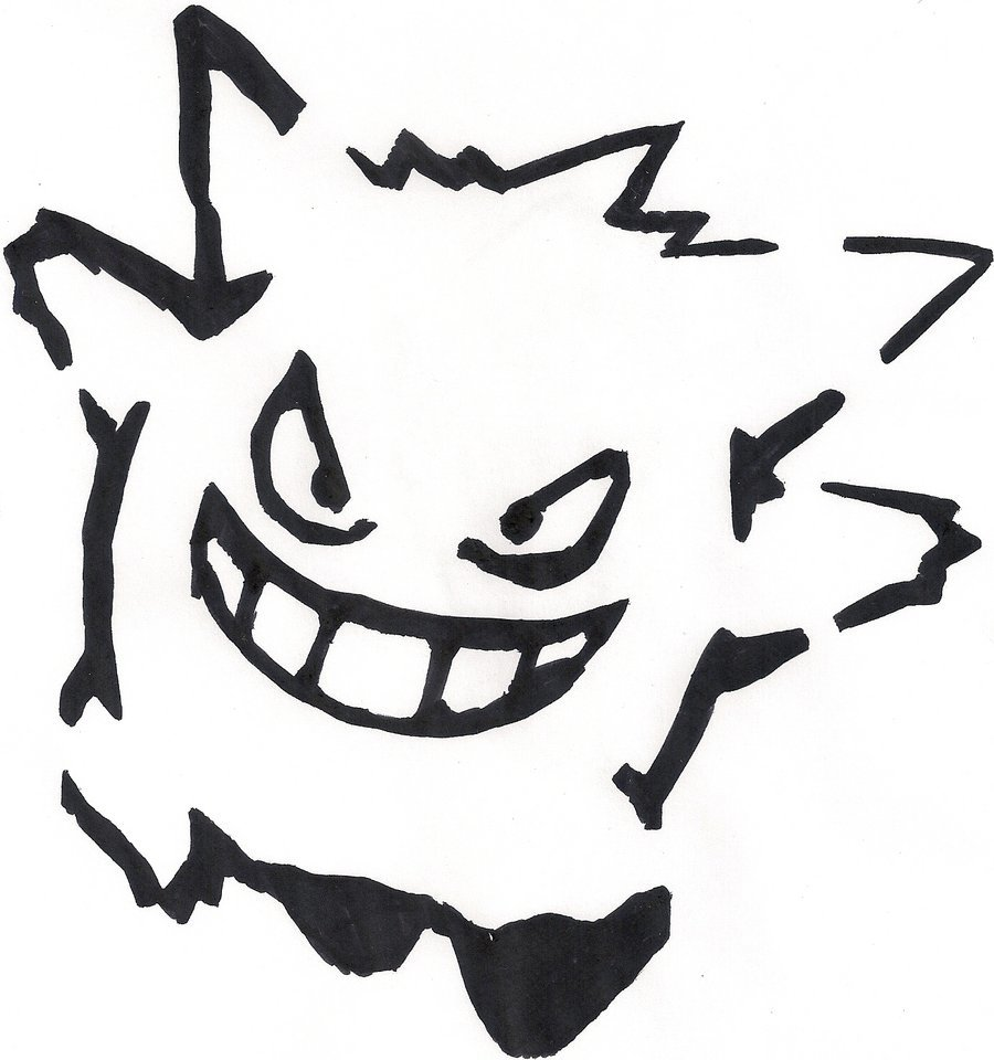 Pokemon Coloring Pages Gengar Clipart X And Y GO