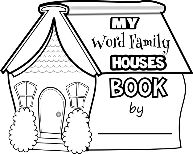 clipart resolution 626 500 word family houses clipart word family book
