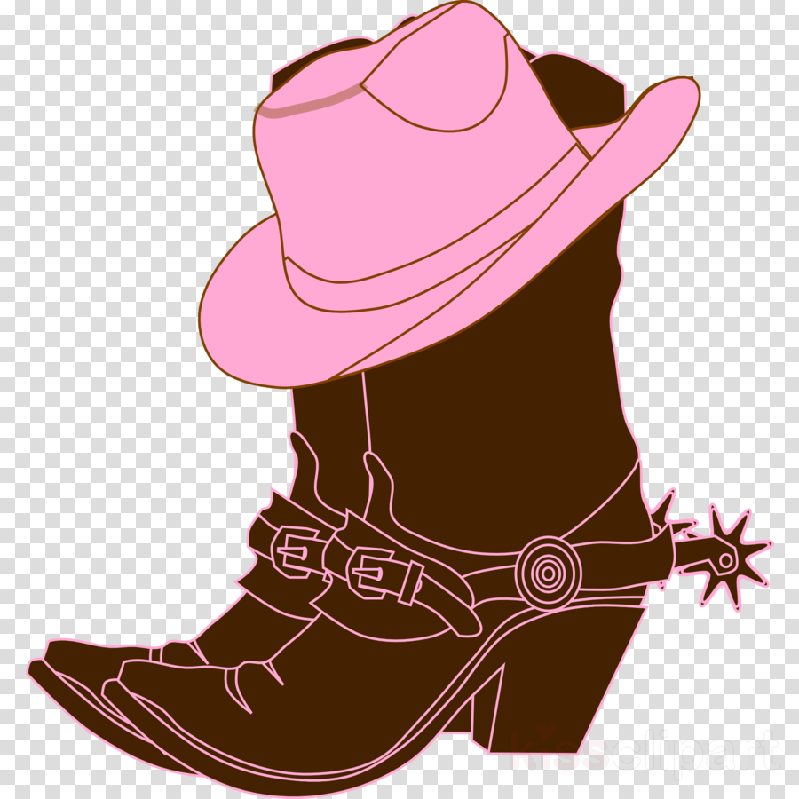 3drose ht_119421_3 cowgirl boots n pink cowgirl hat iron on heat transfer, 10 by 10-inch, for white material clipart Hat 'n' Boots Cowboy hat