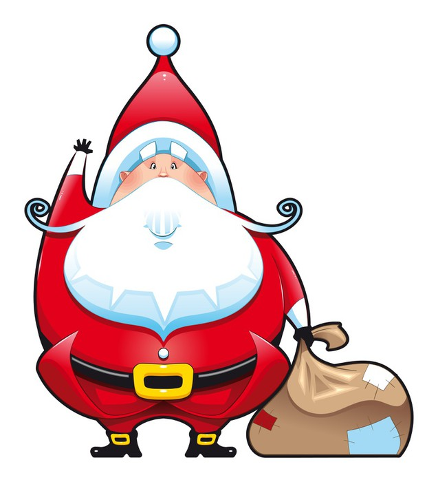 santa claus with christmas tree clipart Santa Claus Stock photography
