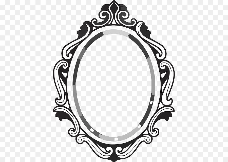 Black And White Frame Clipart Mirror, Black And White Mirror Clipart
