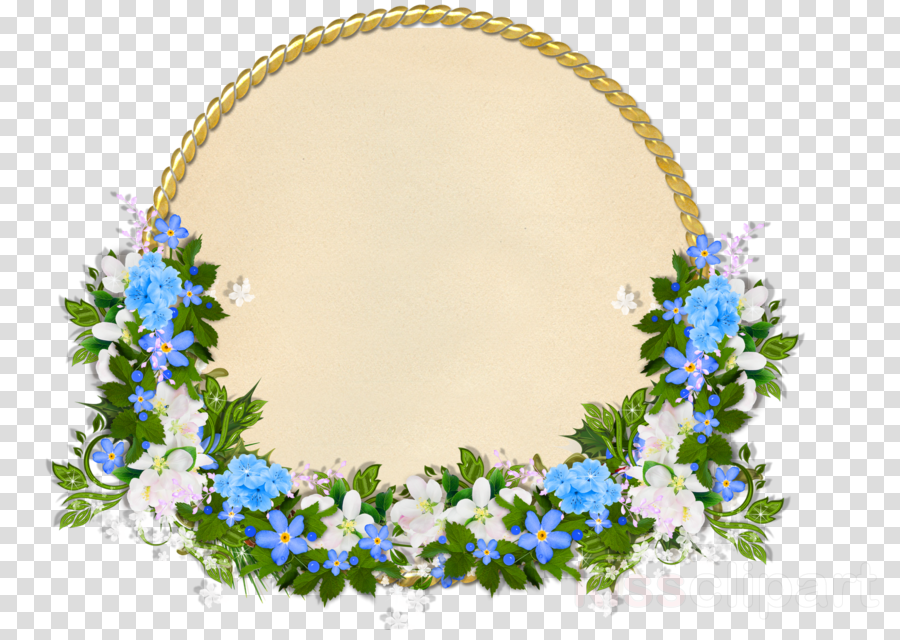 Blue Flower Borders And Frames