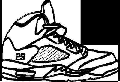reputable site b027f 892dd cartoon jordans transparent background clipart Shoe Air Jordan 5 Drawing