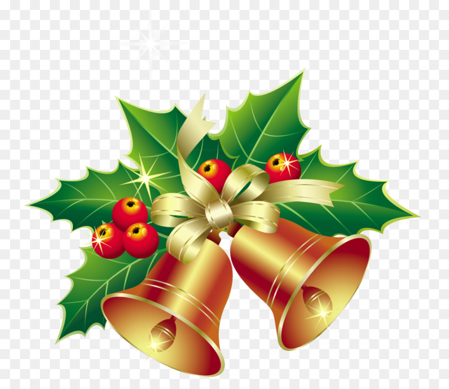 Christmas Leaf Name.Christmas Bell Cartoon Clipart Leaf Christmas