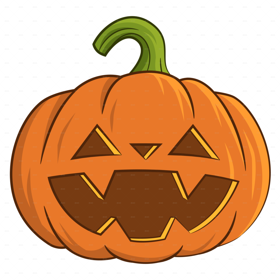 Halloween Pumpkin Cartoon Images.Halloween Jack O Lantern Clipart Pumpkin Illustration