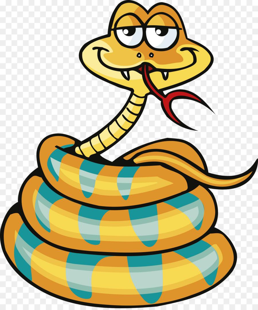 нарисованная змея на прозрачном фоне clipart Snakes Cobra Reptile
