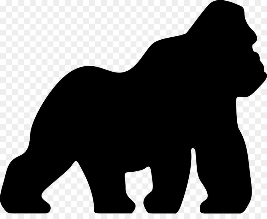 gorilla black png clipart Ape Clip art
