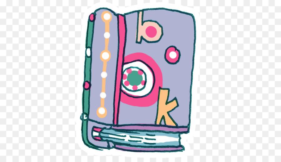 Technology book. Pink transparent png image