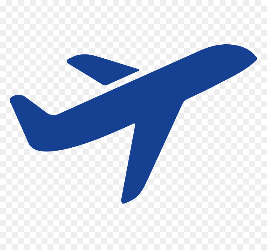 Airplane logo. Travel blue background clipart