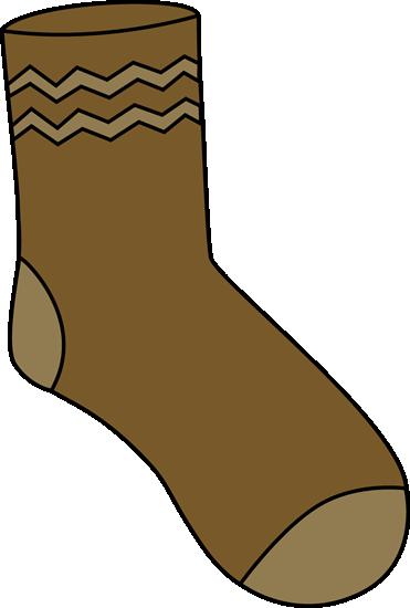 brown sock clipart Crew sock Clip art
