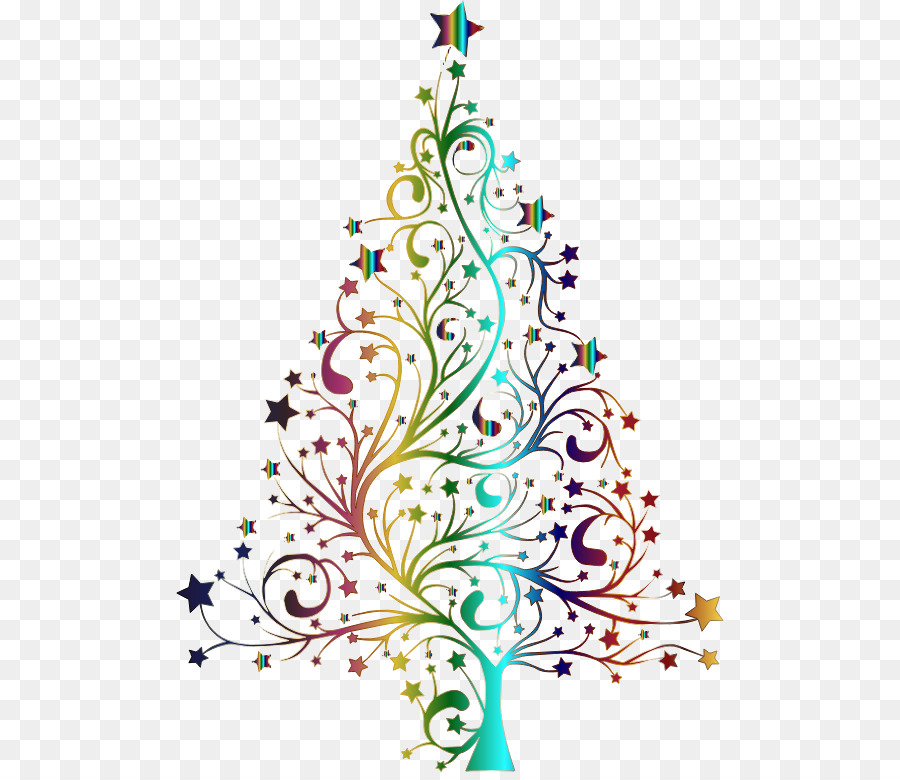 Christmas Tree Line Drawing Clipart Tree Leaf Line