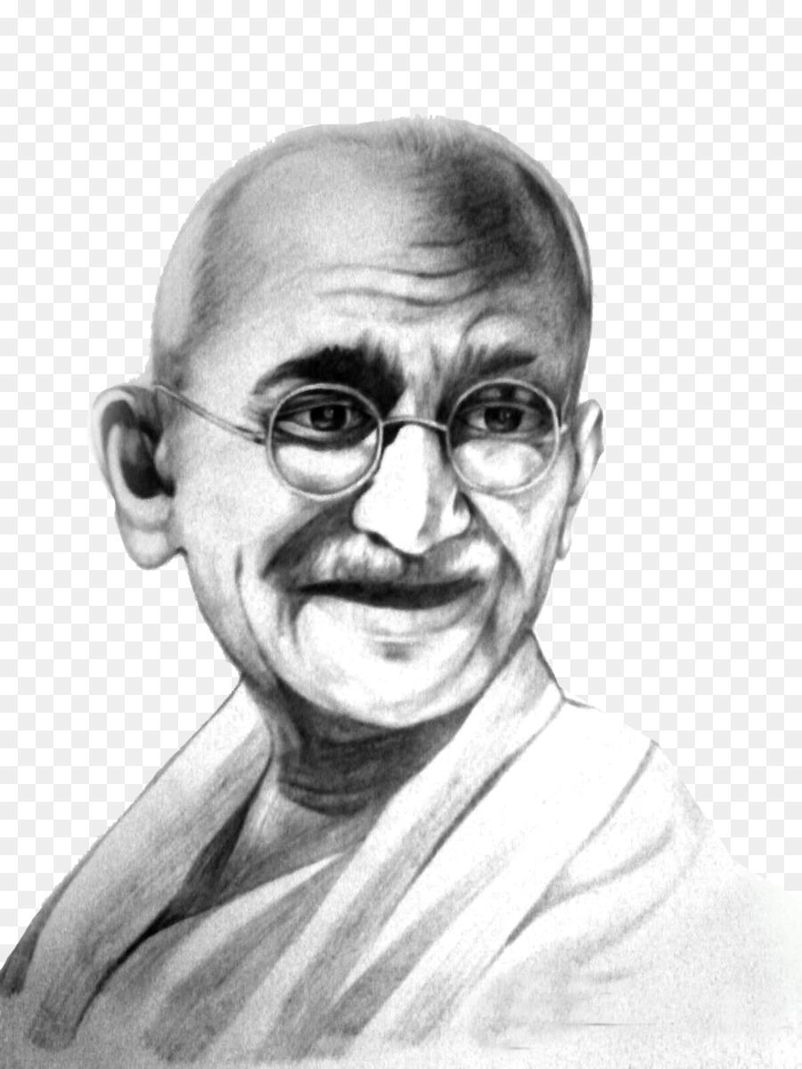 Mahatma gandhi jayanti clipart drawing sketch face