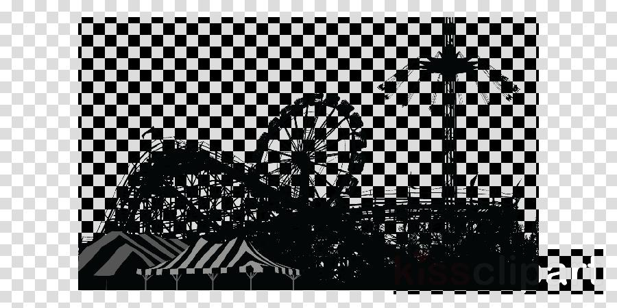 Amusement park clipart Amusement park Roller coaster