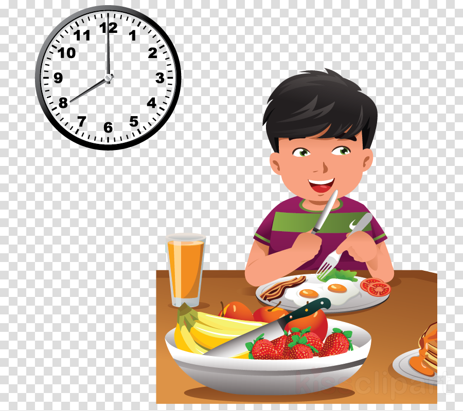 Kids Eating Healthy Foods Clipart - Health Tips and Music