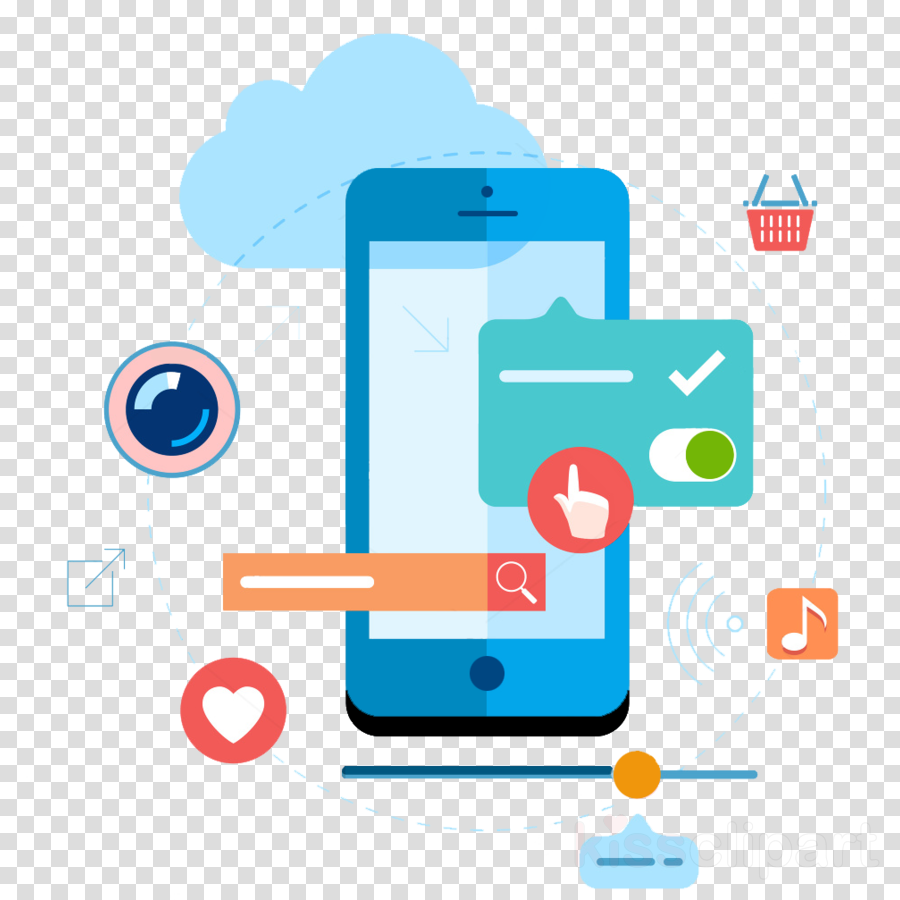 mobile app development illustrations clipart Mobile app development