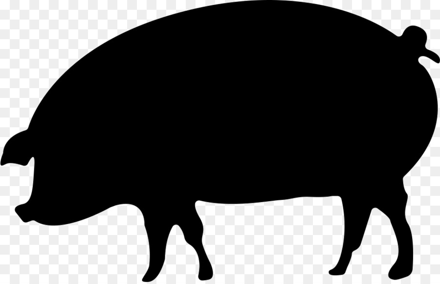 CRMla: Clip Art Of Pig Black And White