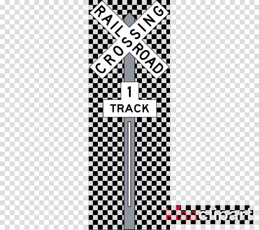 railroad crossing sign clipart Rail transport Train Level crossing
