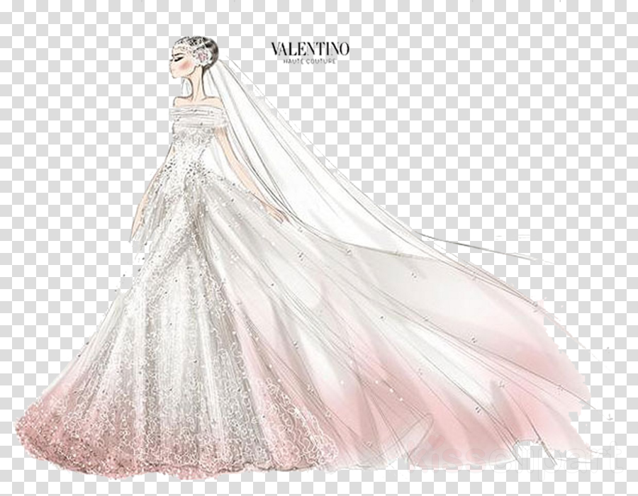 Dress Bride Sketch Drawing Wedding Fashion Clothing