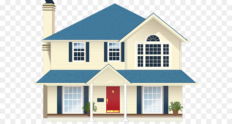 Real Estate Background Clipart House Cartoon Drawing