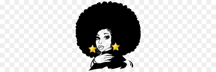 With clipart girl black afro African