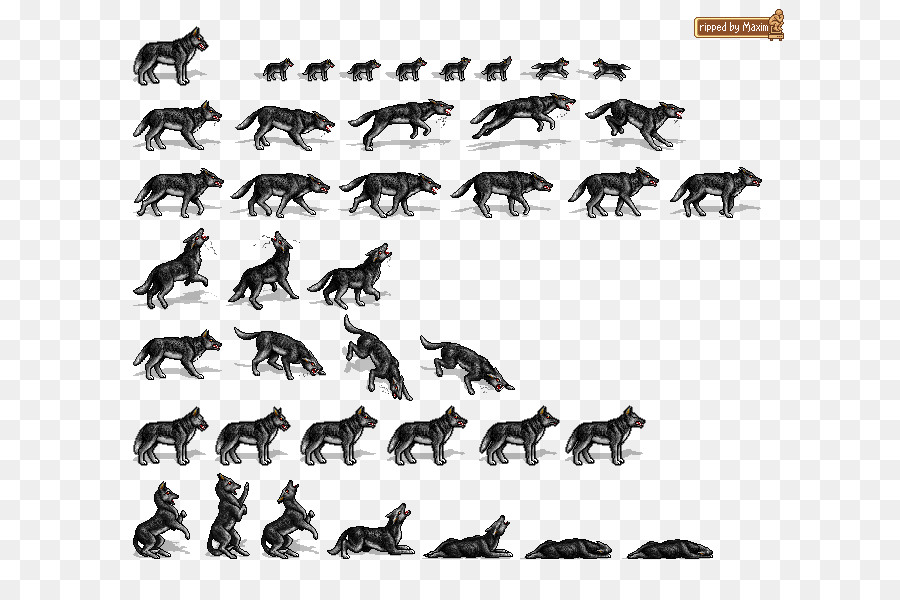 Wolf, Pixel, Font, transparent png image & clipart free download