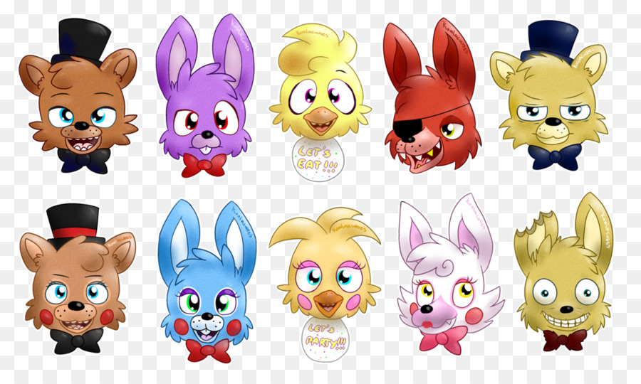 Download Fnaf Animatronic Heads Clipart Five Nights At Freddys Sister Location 3 Cartoon Product Design