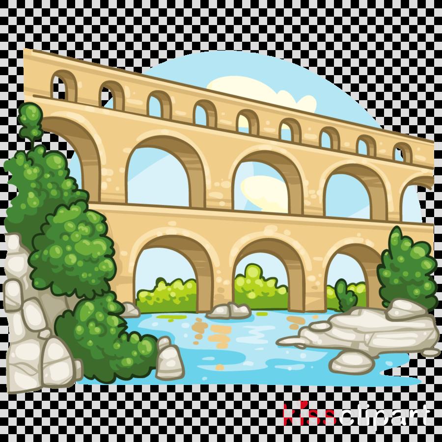 aqueduct clipart Roman aqueduct Clip art