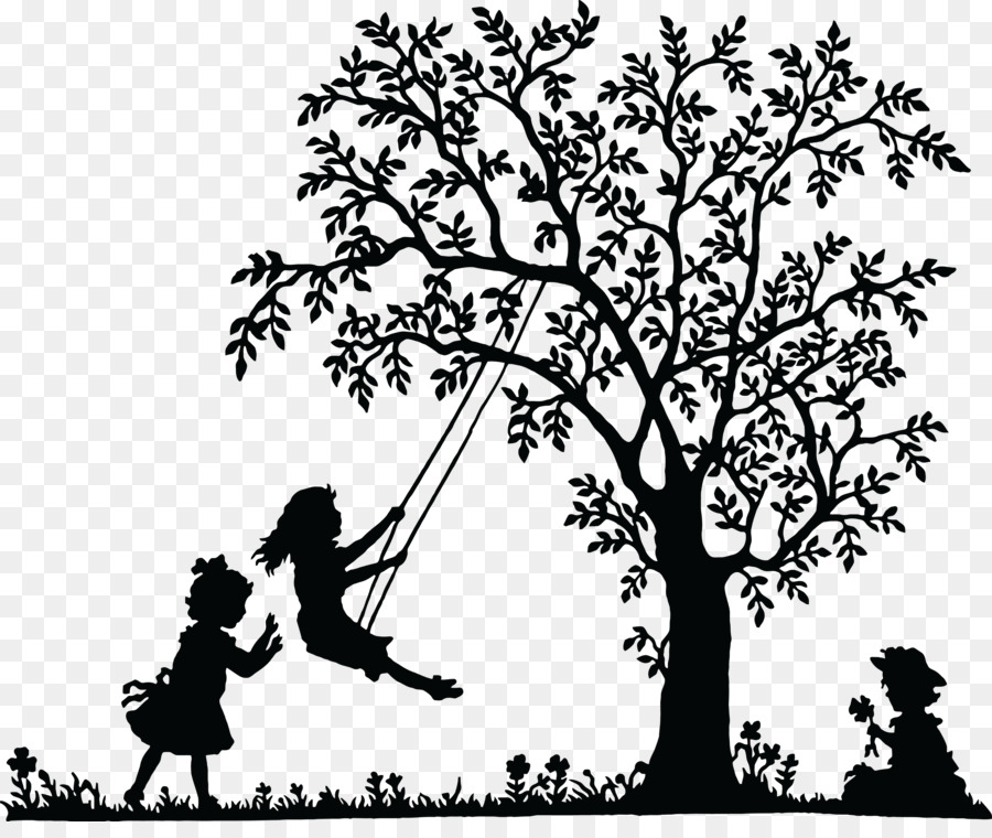 Silhouette Girl Graphics Transparent Image Clipart Free