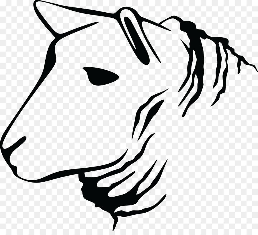 Bird Line Drawing Clipart Sheep Goat Sticker Transparent Clip Art