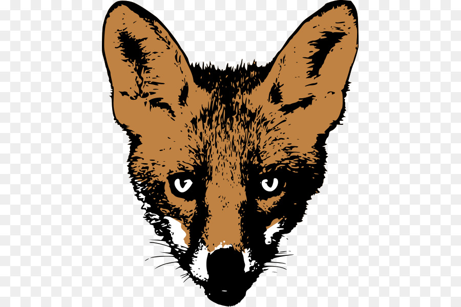 fox face drawing clipart Red fox Drawing